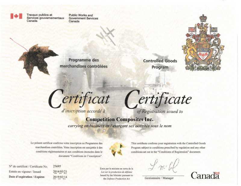 Competition Composites Inc Canadas Premium Composites Fabricator