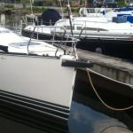 C&C 115 bowsprit installed