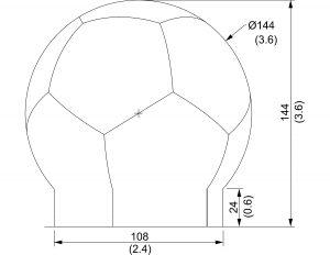 12 foot spherical radome
