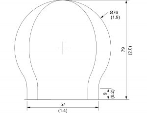 6 foot spherical radome