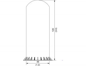 DF Shroud radome: 10 ft mast mount
